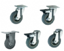 Grey Rubber Wheeled Castors 100mm wheel diameter